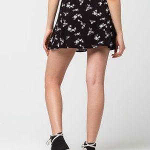 bf54f59f27 Full Tilt Skirts | Nwt Black Floral Skater Skirt | Poshmark